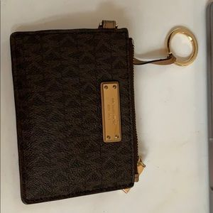 mk logo travel size wallet